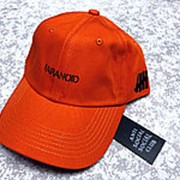 Кепка Paranoid Anti social social club x bape оранжевая фото
