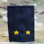 Фальш-погоны Полиция лейтенант вышитые желтым иссиня-черные МФ-23-08 фото