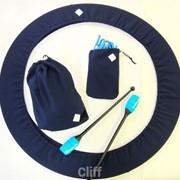 Набор чехлов для гимнастики. Цвет синий. фото