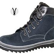 М 6-936 Ботинки школьные нат.мех, т.синий Р-р 37 фото