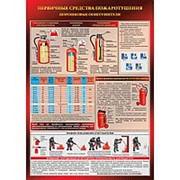 """Плакат """"Порошковый огнетушитель"""" - 1 л. фото"""