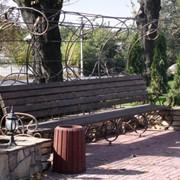Художественная ковка уличной мебели фото