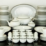 Сервиз фарфор Zarin Iran Сервиз столовый Floris Platinum (62 предмета) фото