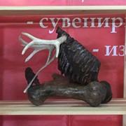 Композиция Схватка. Зуб мамонта, кость мамонта, кость носорога, интерьерная, настольная, декор фото