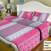 Ткань х/б подкладочная напечатанная ширина 1.60см рис 318 розовая фото