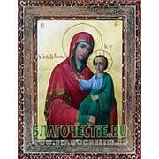 Благовещенская икона Закланная Богородица, копия старой иконы, печать на дереве Высота иконы 11 см фото