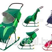 Санки коляска Тимка 2 с колесом фото