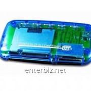 Кард-ридер Card Reader внешний Gembird FD2-ALLIN1, код 44861 фото
