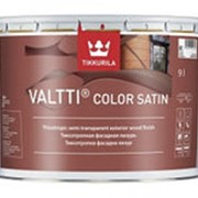 Tikkurila Valtti Color Satin, лессирующий антисептик для дерева, 0,9 л. фото