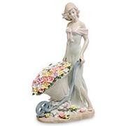 "Скульптура ""Девушка с цветами"" 17х29х10см. арт.JP-22/9 Pavone фото"