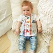"Комплект 2 предмета фуфайка+штанишки для мальчика ""Fashion Jeans"" 512-04 фото"