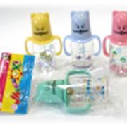 Комплект для кормления МалышОК! (бутылочка+соска) тип Котёнок250 фото