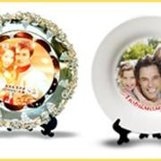Тарелка металлическая круглая фото