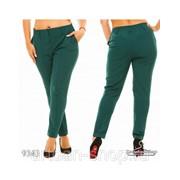 Женские брюки т. зелёные 9343 фото