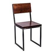 Стул лофт Квадрум с деревянным сиденьем и спинкой фото