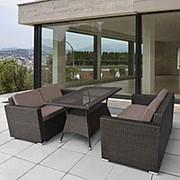 Комплект плетеной мебели T198A/S52A-W53 Brown фото