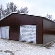 Строительство гаража из сэндвич-панелей 144 м2 фото