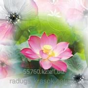 Картина стразами в 3Д Лотос 50х50 см фото