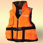 Спасательный жилет Командор двухсторонний с карманами, грузоподъемность 150 кг, размер 58-60 фото