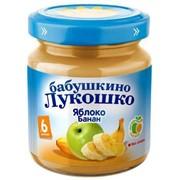 Б.лукошко пюре из яблок и бананов (с 6 мес) 100г фото