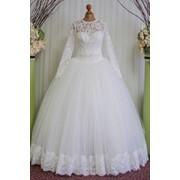 """Свадебное платье с длинным рукавом """"Агния"""" фото"""
