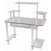Стеклянный компьютерный стол фото