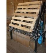 Оборудование для производства деревянных поддонов (паллет). Линия кондукторов (монтажные столы) для сборки (изготовления) поддонов. Станок для производства бобышек (шашек). фото