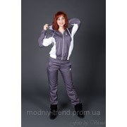 Женский спортивный костюм двухцветка из плащевки