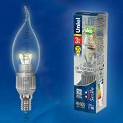 Лампа ALUMINIUM SMILE серия LED-CW37P-3W/WW/E14/CL ALS01SL фото