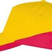Бейсболка BOOSTER, желтая с красным фото
