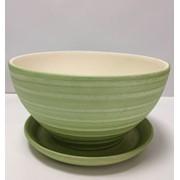 Горшок цветочный из керамики Фиалка Зеленый фото