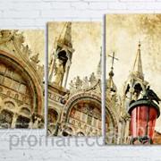 Модульна картина на полотні Венеція. Сан-Марко код КМ80106-077 фото
