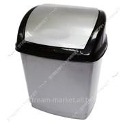 Ведро пластиковое конверт 16л. (серо-черное) фото