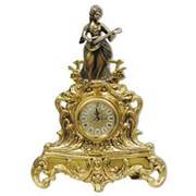 Часы каминные старинные Дама с лютней
