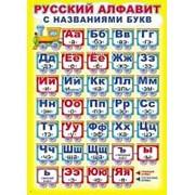 """Плакат А2 Сфера """"Русский алфавит с названиями букв"""" картон, ПЛ-007280 фото"""