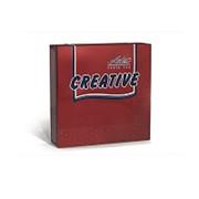 Салфетки бумажные Aster Creative 33х33 см, 3-слойные, красные, с тиснением,20 шт фото