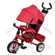 Велосипед детский трехколесный с родительской ручкой Profi Trike Profi Trike M 0448-5 фото
