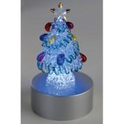 Сказочная новогодняя елка на подставке с меняющей цвет подсветкой фото