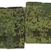 Фальш-погоны Подполковника вышитые, полевая цифра фото