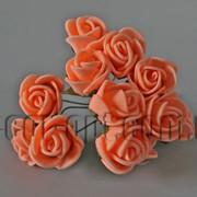 Букет персиковых розочек из латекса 1,5-2 см 175 фото