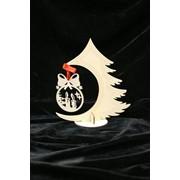 Сувенир деревянный Новогодняя ёлочка фото