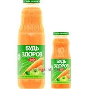 """Нектар с мякотью """"Будь здоров"""" яблочно-морковный, объем 0,75/0,25л фото"""