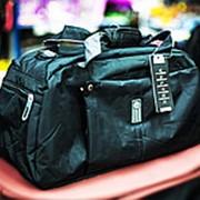 Спортивная дорожная сумка VALTEX 46х20х24см черная фото