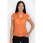 Оранжевая блузка из вуали PL1-852 фото