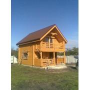 Деревянный дом частный фото