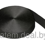 Стропа текстильная (лента ременная) 50 мм черная фото
