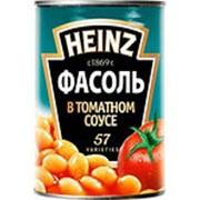 Фасоль HEINZ Белая в Томатном соусе, 415г фото