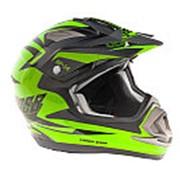 Шлем кроссовый GSB XP-14 зеленый размер XL фото