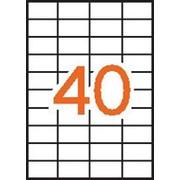 Этикетки универсальные StickWell , прямоугольные, белые, 52,5*29,7 мм, 4000 шт. фото