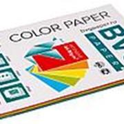 BVG Paper Бумага цветная BVG, А4, 80г, 100л/уп, радуга 5 цветов, интенсив фото
